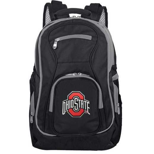 CLOSL708: NCAA Ohio State University Buckeyes Trim color Laptop Backpack