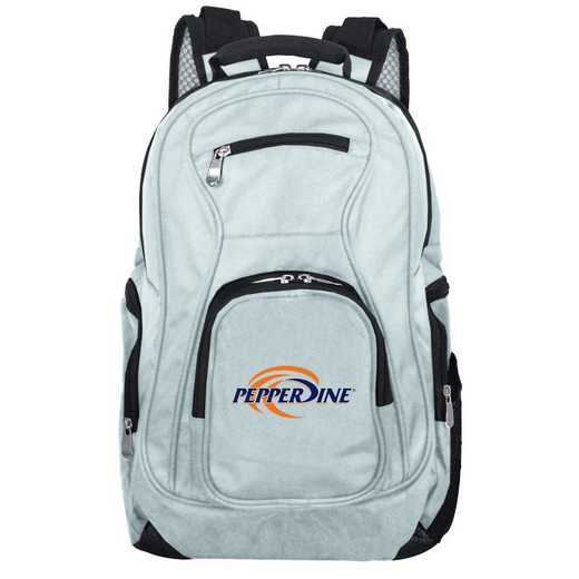 CLPPL704-GRAY: NCAA Pepperdine University Waves Backpack Laptop