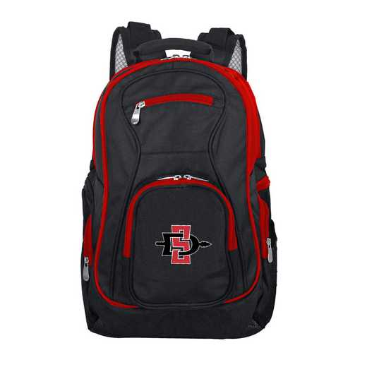 CLSGL708: NCAA San Diego State Aztecs Trim color Laptop Backpack