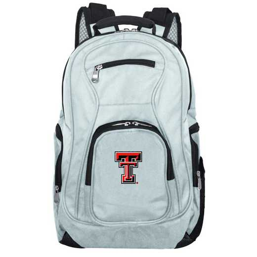 CLTTL704-GRAY: NCAA Texas Tech Red Raiders Backpack Laptop