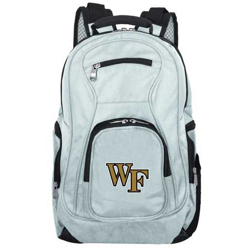 CLWFL704-GRAY: NCAA Wake Forest Demon Deacons Backpack Laptop
