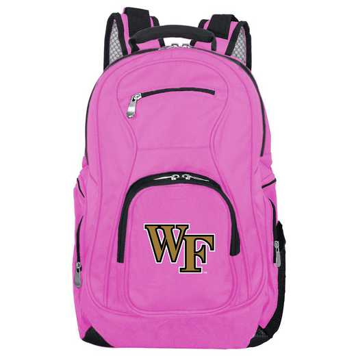 CLWFL704-PINK: NCAA Wake Forest Demon Deacons Backpack Laptop