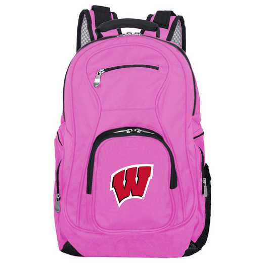 CLWIL704-PINK: NCAA Wisconsin Badgers Backpack Laptop