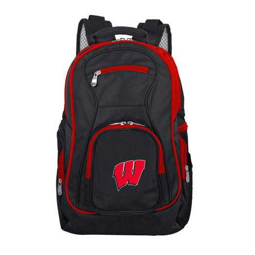 CLWIL708: NCAA Wisconsin Badgers Trim color Laptop Backpack