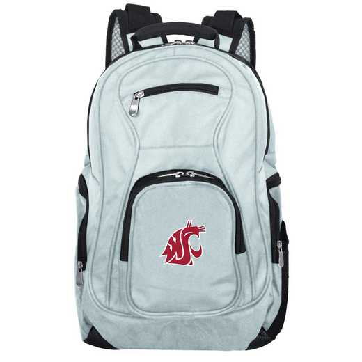CLWSL704-GRAY: NCAA Washington State Cougars Backpack Laptop