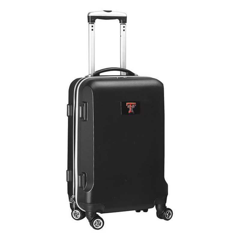 CLTTL204-BLACK: NCAA Texas Tech Red Raiders   21IN Hardcase Spinner  BLK