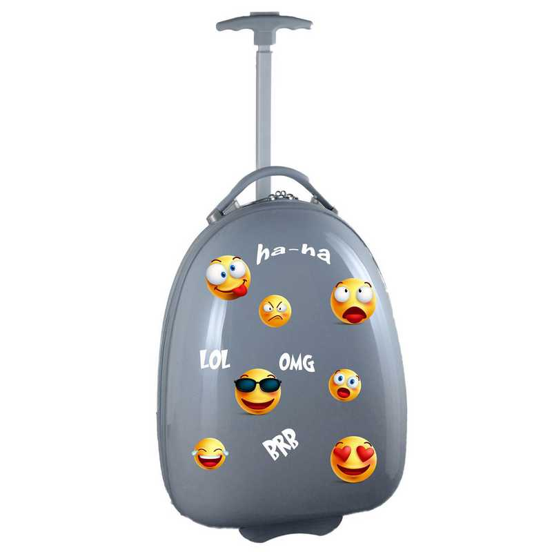 PLZZL601-GRAY:  Kids Pod Luggage In Gray