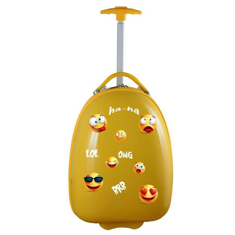 PLZZL601-YELLOW:  Kids Pod Luggage In Yellow