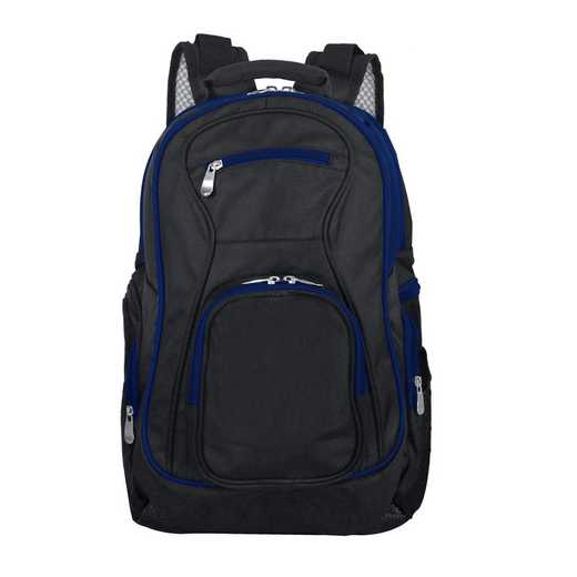 PLZZL708-NAVY: Navy Trim Blank Backpack