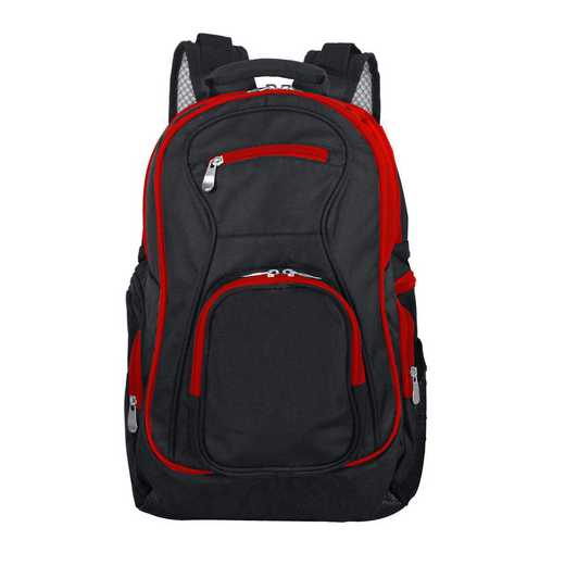 PLZZL708-RED: Red Trim Blank Backpack