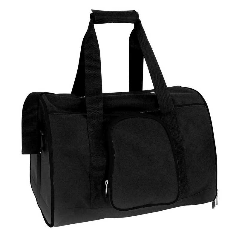 PLZZL901-BLACK: Black Pet Carrier Duffel