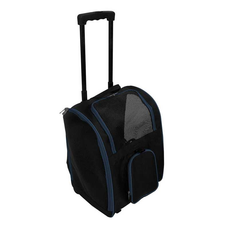 PLZZL902-NAVY: Navy Pet Carrier Wheeled Duffel