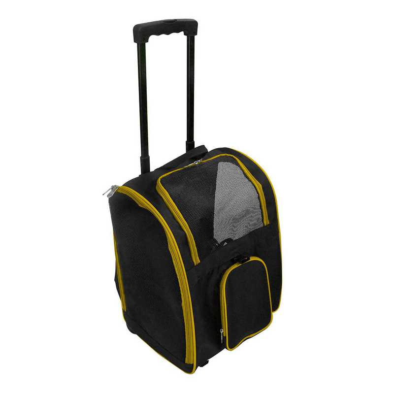 PLZZL902-YELLOW: Yellow Pet Carrier Wheeled Duffel