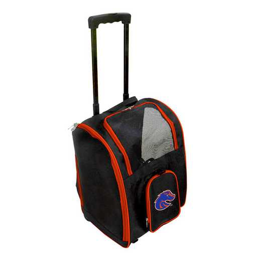 CLBSL902: NCAA Boise ST Broncos Pet Carrier Premium bag W/ wheels