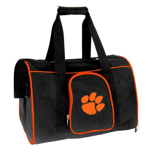 CLCLL901: NCAA Clemson Tigers Pet Carrier Premium 16in bag