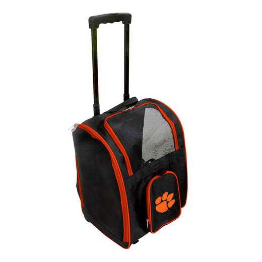 CLCLL902: NCAA Clemson Tigers Pet Carrier Premium bag W/ wheels