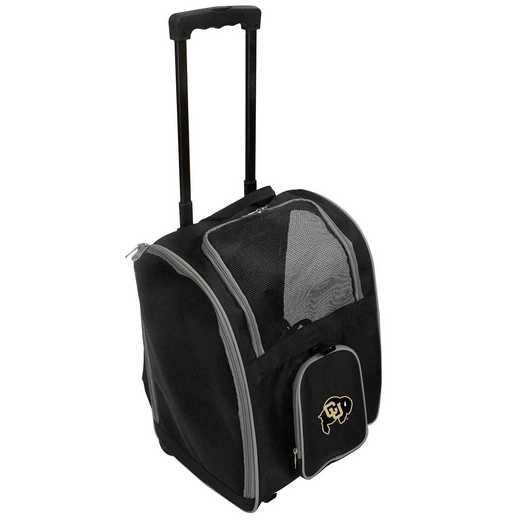 CLCOL902: NCAA Colorado Buffaloes Pet Carrier Premium bag W/ wheels