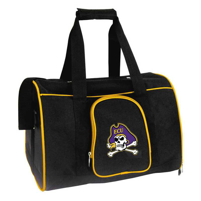 CLECL901: NCAA East Carolina Pirates Pet Carrier Premium 16in bag