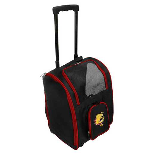 CLFEL902: NCAA Ferris ST Bulldogs Pet Carrier Premium bag W/ wheels