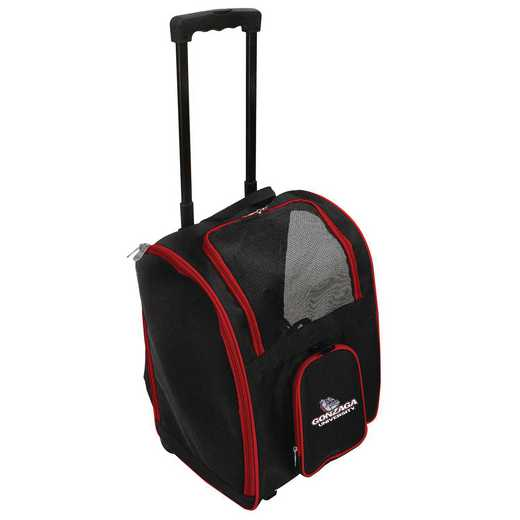 CLGZL902: NCAA Gonzaga Univ Bulldogs Pet Carrier Premium bag W/wheels