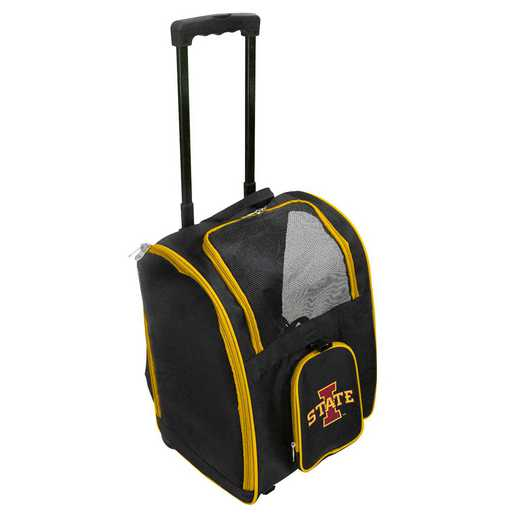 CLISL902: NCAA Iowa ST Cyclones Pet Carrier Premium bag W/ wheels