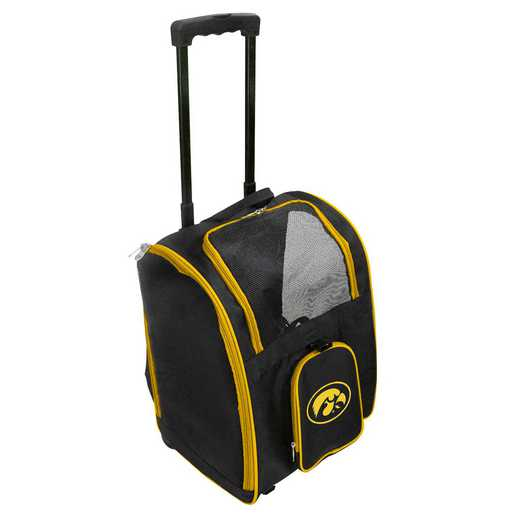 CLIWL902: NCAA Iowa Hawkeyes Pet Carrier Premium bag W/ wheels