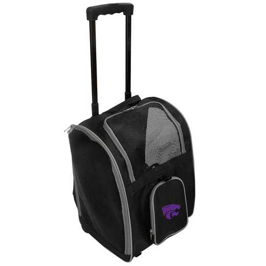 CLKSL902: NCAA Kansas ST Wildcats Pet Carrier Premium bag W/ wheels