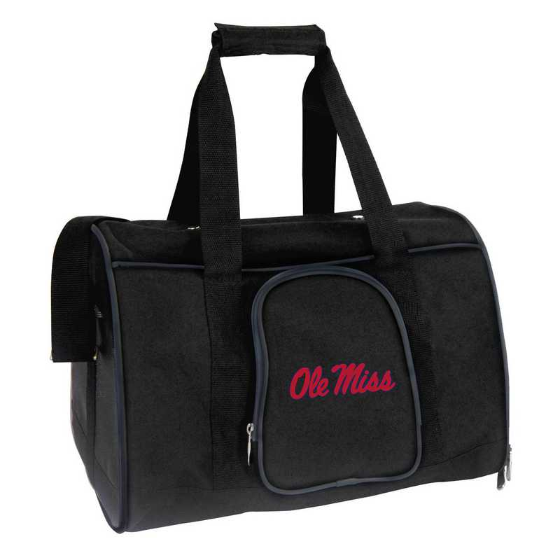 CLMIL901: NCAA Mississippi Ole Miss Pet Carrier Premium 16in bag