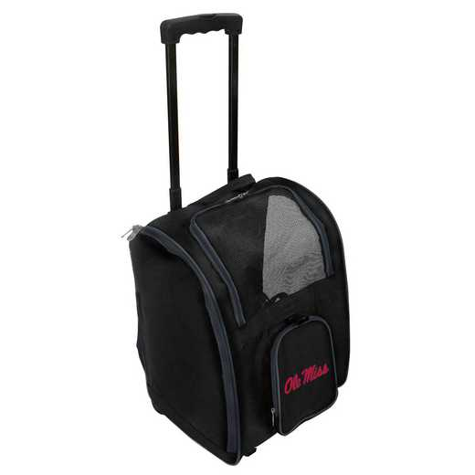 CLMIL902: NCAA Mississippi Ole Miss Pet Carrier Premium bag W/ wheels