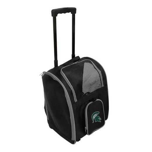 CLMSL902: NCAA Michigan ST Spartans Pet Carrier Premium bag W/ wheels