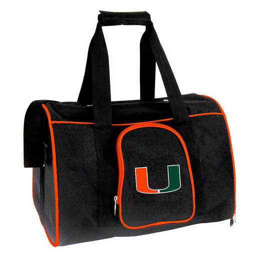 CLMUL901: NCAA Miami Hurricanes Pet Carrier Premium 16in bag