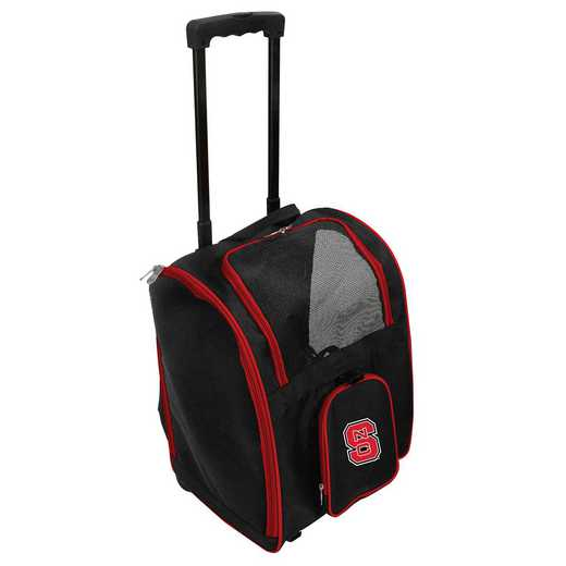 CLNSL902: NCAA NC ST Wolfpack Pet Carrier Premium bag W/ wheels