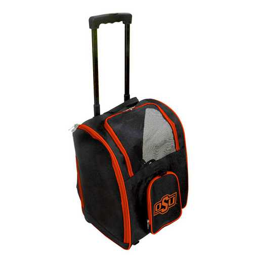 CLOKL902: NCAA Oklahoma ST Cowboys Pet Carrier Premium bag W/ wheels