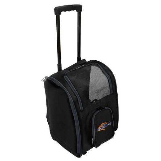 CLPPL902: NCAA Pepperdine Univ Waves Pet Carrier Premium bag W wheels
