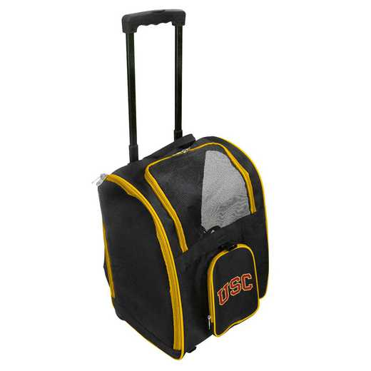CLSCL902: NCAA Southern Cal Trojans Pet Carrier Premium bag W/ wheels
