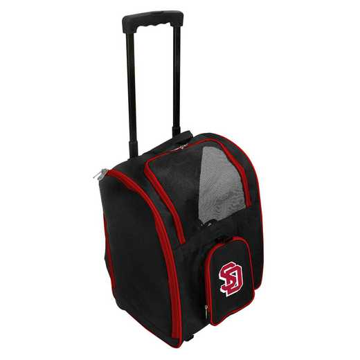 CLSDL902: NCAA South Dakota Coyotes Pet Carrier Premium bag W/ wheels