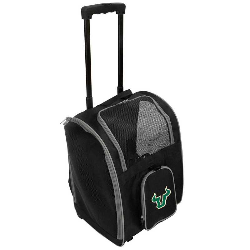 CLSFL902: NCAA South Florida Bulls Pet Carrier Premium bag W/ wheels