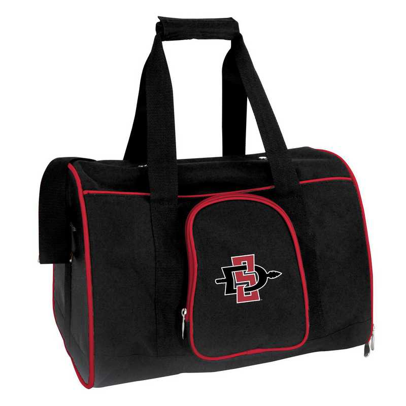 CLSGL901: NCAA San Diego State Aztecs Pet Carrier Premium 16in bag