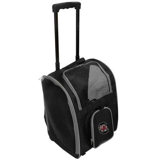 CLSOL902: NCAA South Carolina Gamecocks Pet Carrier Prem bag W/wheels