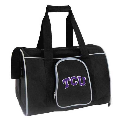 CLTCL901: NCAA TCU Horned Frogs Pet Carrier Premium 16in bag
