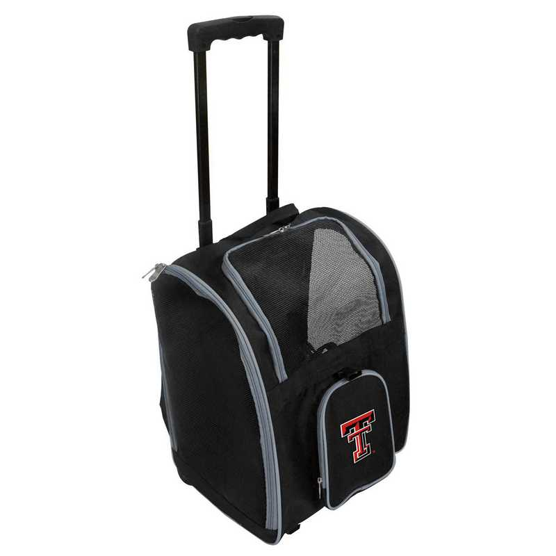 CLTTL902: NCAA Texas Tech Red Raiders Pet Carrier Prem bag W/ wheels