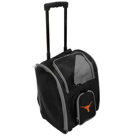 CLTXL902: NCAA Texas Longhorns Pet Carrier Premium bag W/ wheels