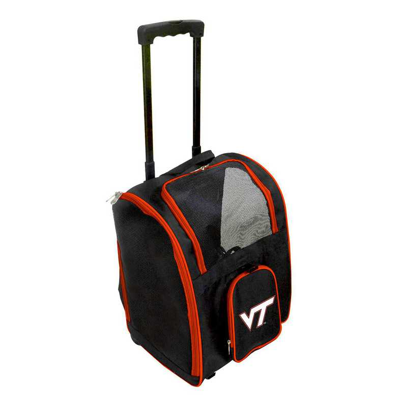 CLVTL902: NCAA Virginia Tech Hokies Pet Carrier Premium bag W/ wheels