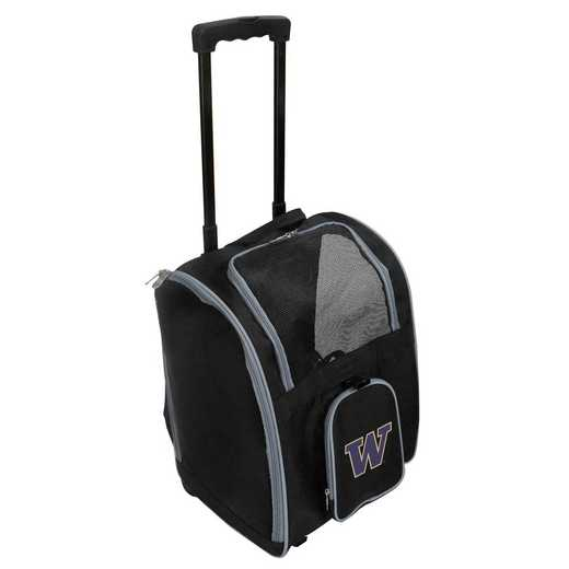 CLWAL902: NCAA Washington Huskies Pet Carrier Premium bag W/ wheels