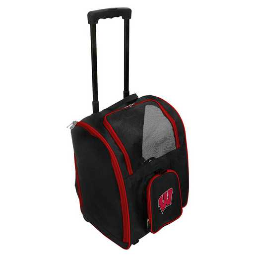 CLWIL902: NCAA Wisconsin Badgers Pet Carrier Premium bag W/ wheels