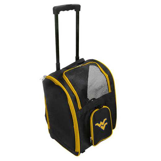 CLWVL902: NCAA WVirginia Mountaineers Pet CarrierPremium bag W/wheels