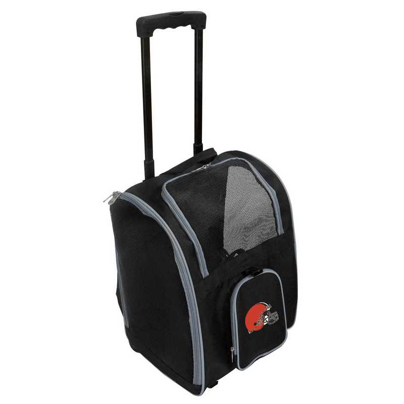 NFCLL902: NFL Cleveland Browns Pet Carrier Premium bag W/ wheels