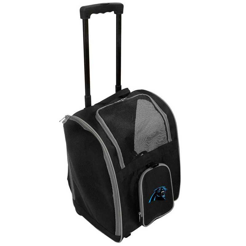 NFCPL902: NFL Carolina Panthers Pet Carrier Premium bag W/ wheels