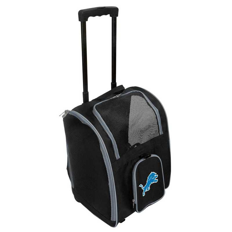 NFDLL902: NFL Detroit Lions Pet Carrier Premium bag W/ wheels