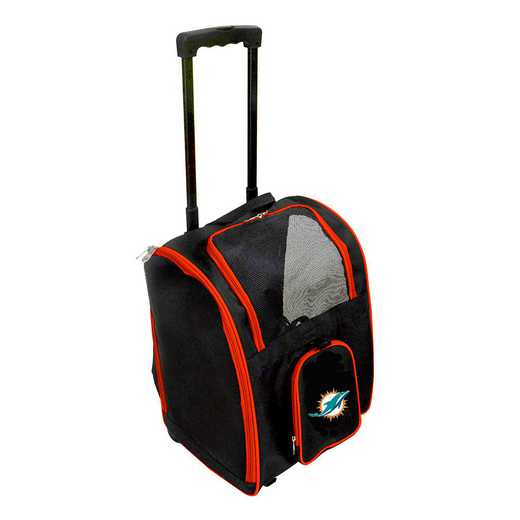 NFMDL902: NFL Miami Dolphins Pet Carrier Premium bag W/ wheels